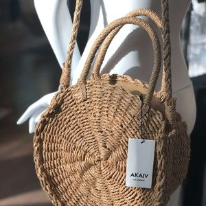 AKAIV Los Angeles Straw Rattan Sisal Straw bag